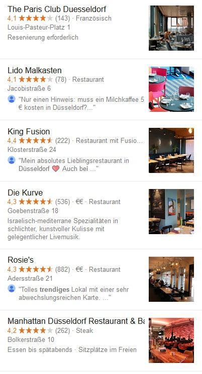 Die trendigsten Düsseldorfer Restaurants